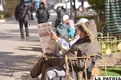 Se recomienda usar ropa abrigada durante esta semana pues el frío incrementará /LA PATRIA/ARCHIVO
