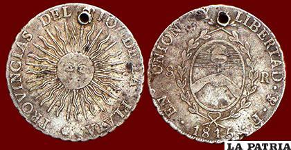 Las monedas acuñadas en Potosí en 1815 llevan los símbolos de una nación independiente