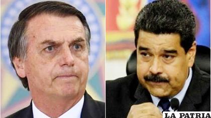 Jair Bolsonaro y el mandatario venezolano, Nicolás Maduro /e.rpp-noticias.io