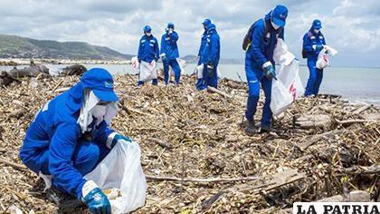 Este sábado fueron recogidas 250 toneladas de desechos en Puerto Colombia /eldiario.es