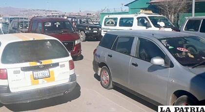 Algunos de los vehículos que infringieron la norma /GACIP