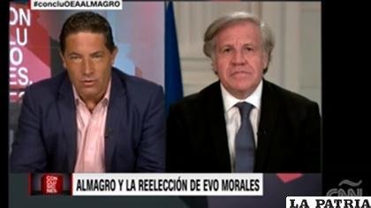 Luis Almagro, secretario General de la OEA en entrevista con CNN /Captura de pantalla