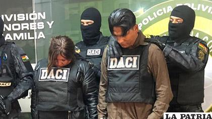 Fueron tres los antisociales detenidos por la policía /FELCC