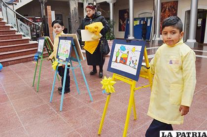 Niños destacan en las artes plásticas /LA PATRIA