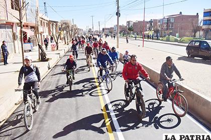 La ciclovía puede ser usada de manera permanente /LA PATRIA/REYNALDO BELLOTA
