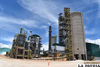 La planta de cemento tiene una capacidad de producción de 1.3 millones de toneladas al año /LA PATRIA/ARCHIVO