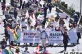 Cívicos, Conade y candidatos marchan  para exigir renuncia de los vocales