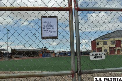 Las canchas están cerradas para velar por la salud de las personas /Ovidio Cayoja /LA PATRIA