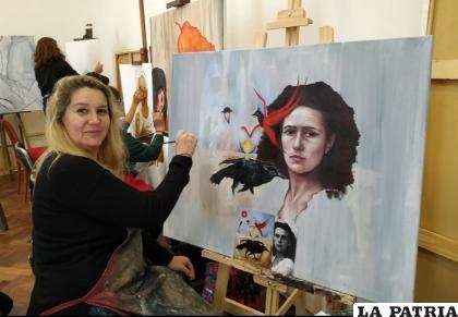 Mariel Butti además es profesora de artes visuales /LA PATRIA