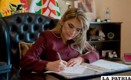 Jeanine Áñez procede a la promulgación de Ley 1307 /erbol.com