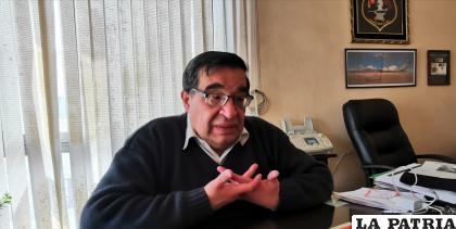 El gerente de la Cámara Departamental de Industrias de Oruro, José Peñaranda /LA PATRIA