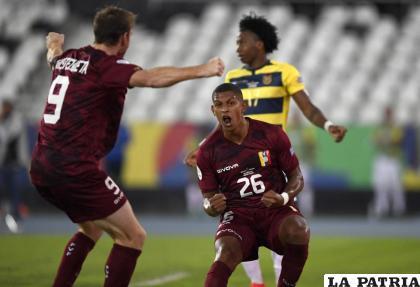 Edson Cartillo anotó el primer gol de la Vinotinto /elcomercio.com