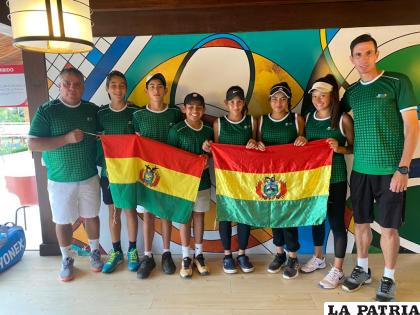 Tenistas bolivianos que asistirán a la competencia internacional /FBT