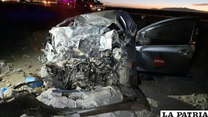 Así quedó el automóvil tras el impacto /LA PATRIA