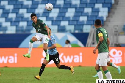 Ramiro Vaca intentó manejar el mediocampo, pero no tuvo mucho éxito /FBF