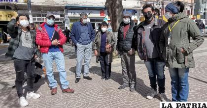 Artistas que hicieron el pronunciamiento para pedir atención de autoridades /LA PATRIA