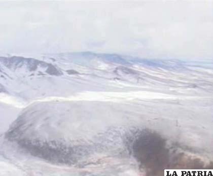 Zona nevada en Sur Lípez, Potosí