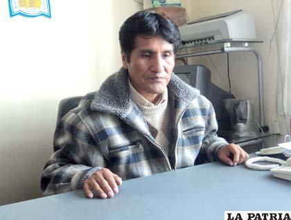 Rigoberto Mamani, ejecutivo de los transportistas