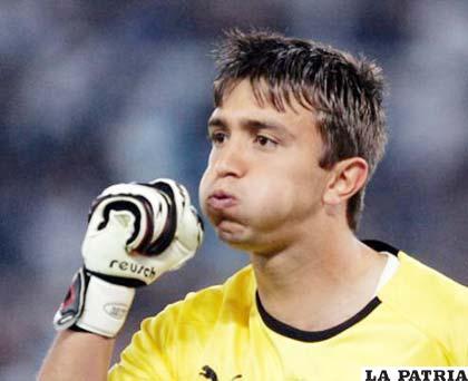 Fernando Muslera arquero de la selección de Uruguay