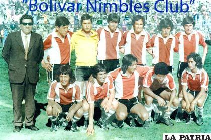 El Bolívar Nimbles de 1974, donde aparecen José Rodríguez, Pablo Mérida, Carlos Guerra, José Molina, Víctor Gonzales. Alberto Quiroz, Crisólogo Fernández y el popular Gato entre otros