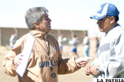 Marcelo Zuleta junto al médico Horacio Callejas