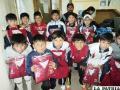 Integrantes de la selección Sub-10  de futsal recibieron salidas deportivas