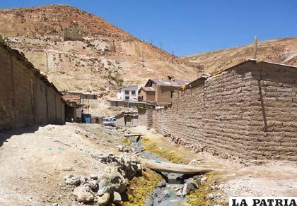 Áreas circundantes a la mina San José