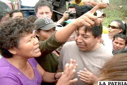 Represión policial en contra de indígenas del Tipnis en Chaparina (Foto Archivo)