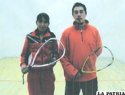 Los raquetbolistas Zamir Torrico y Alison Pérez, se destacaron nítidamente en el torneo