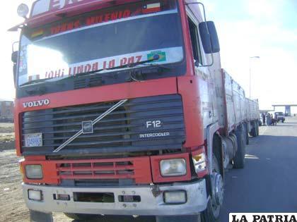 El camión llegó de La Paz