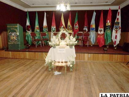 La bebé fue velada en el salón de Banderas del Comando Departamental de la Policía