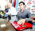 Conferencia de prensa en la cual Quinteros presentó su renuncia