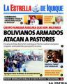 """Portada del diario chileno """"La Estrella de Iquique"""""""