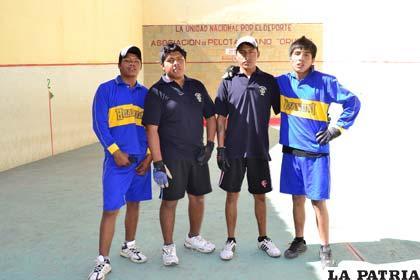 Los pelotaris de Oruro y Huanuni en la Sub-19