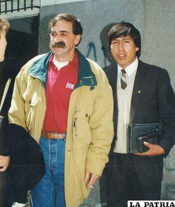 Omar Otazo junto a Xavier Azkargorta en 1993