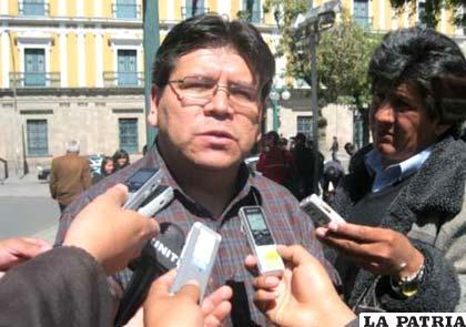 Edwin Herrera, vocero del Movimiento Sin Miedo