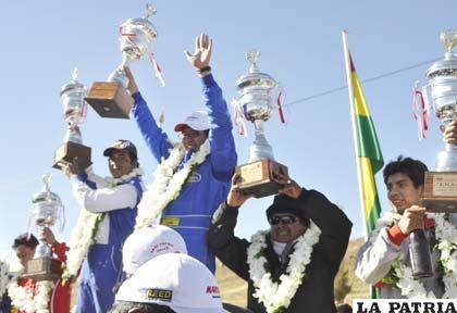 El podio de los ganadores
