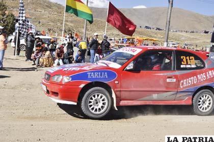 El vehículo de Gregorio Copa, otro gran protagonista de la prueba