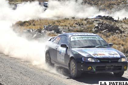 El coche de Arturo Siles, el vencedor de la N-9