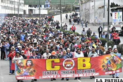 Todavía no existe acuerdo entre el Gobierno y la COB, sobre Ley de Pensiones