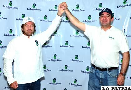 Walter Nosiglia junto a Manuel Sauma