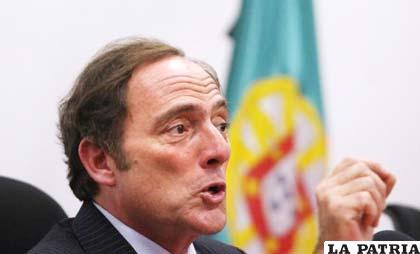 Paulo Portas, ministro de Exteriores de Portugal