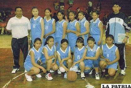 La selección de Oruro que ocupó el cuarto lugar