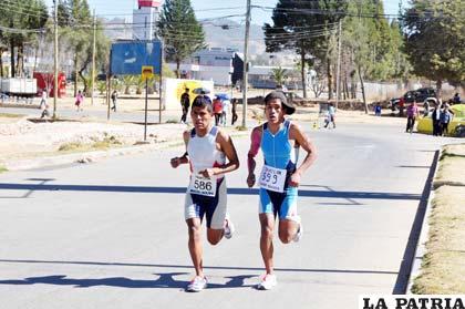 La carrera pasó por calles centrales de Sucre
