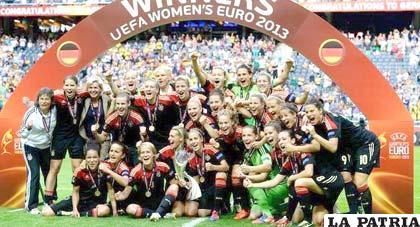 El festejo de las ganadoras de la Eurocopa