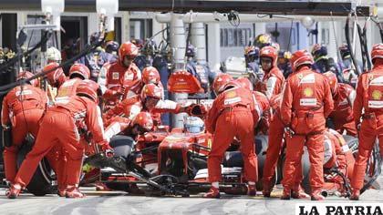 El equipo de Ferrari fue multado