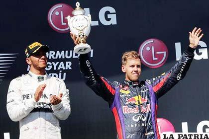 Vettel llegó tercero en la misma competencia
