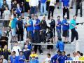 Hinchas de Boca Junior antes del partido