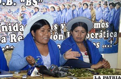 Juanita Ancieta, ex secretaria ejecutiva de la Confederación Nacional de Mujeres Campesinas Bartolina Sisa /ABI