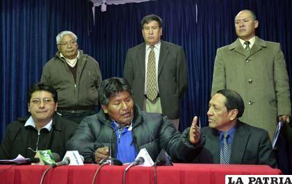 Conferencia de prensa en la que se dio a conocer esta acción positiva